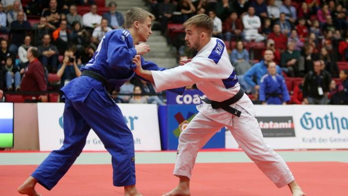 BAU// 25.01.2020 Stuttgart Judo Deutsche Einzelmeisterschaft 2020, - 60 kg, v.l. Lukas Klemm (VfL Sindelfingen 1862 e.V.; Judo - Maximilian Heyder (Judo Club Naisa)