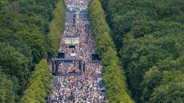 Bilder des Jahres 2020, News 08 August News Themen der Woche KW31 News Bilder des Tages Berlin, Anti-Corona-Protest Deu
