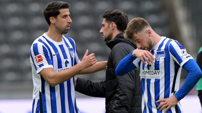 Bundesliga: Spieler von Hertha BSC Berlin nach dem Spiel gegen Borussia Mönchengladbach