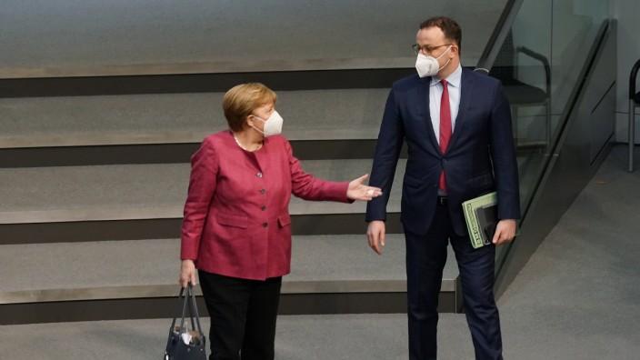 Bundestag Holds First Reading Of New Coronavirus Measures