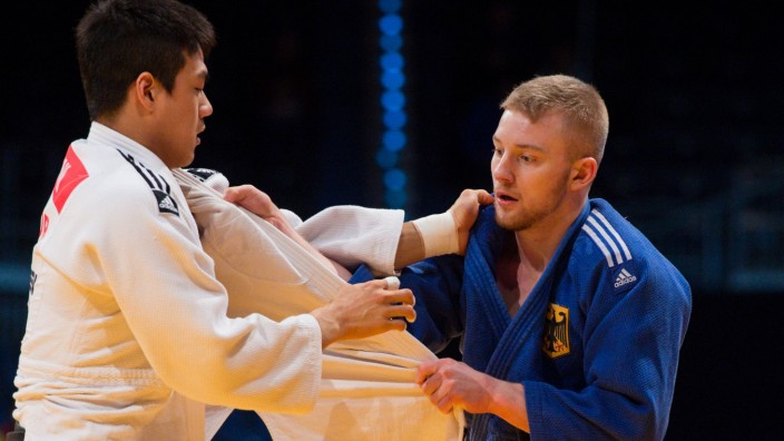 21 02 2016 Mitsubishi Electric Hall Duesseldorf Judo Grand Prix Düsseldorf Duesseldorf 2016 Vo; Dario Kurbjeweit