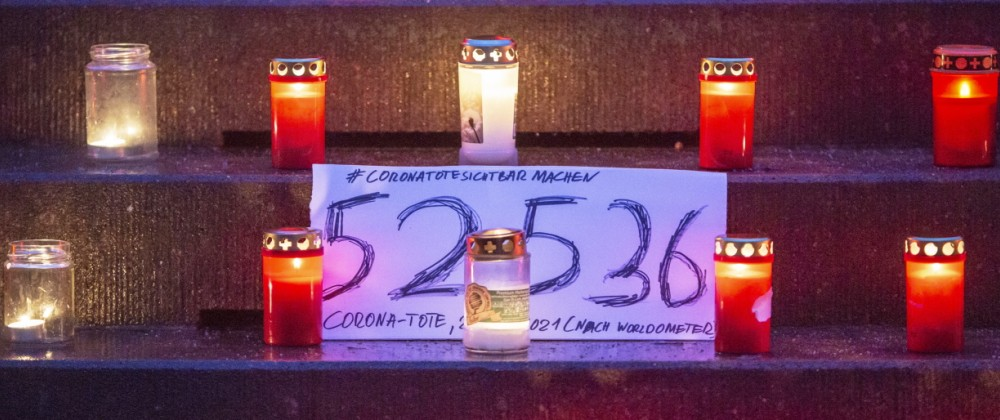 Candle Light Memorial For COVID-19 Victims