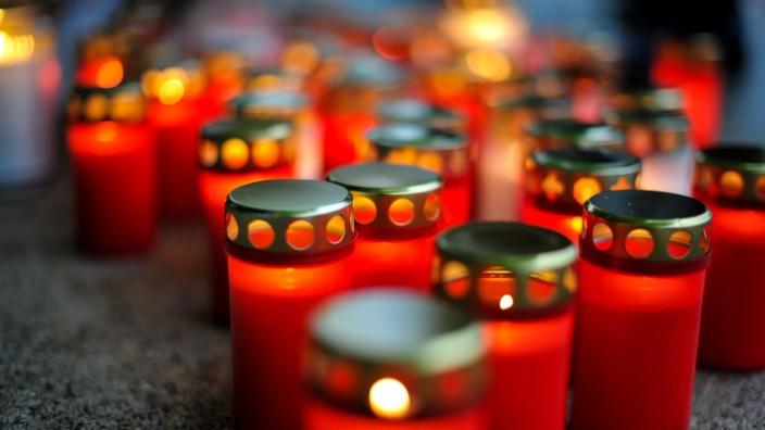 Covid 19 Gestorbene Gedenken an Corona Tote in Deutschland. Am Marienplatz in Stuttgart