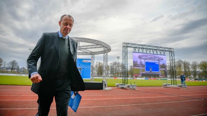 Friedrich Merz Seeks Bundestag Candidacy At Outdoor Stadium Due To Pandemic