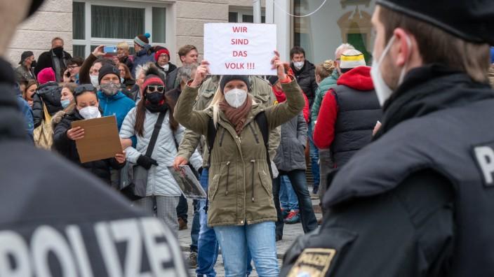 Coronavirus - Kempten - Querdenken-Proteste untersagt