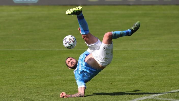 Sascha Moelders (1860) artistisch GER, TSV 1860 Muenchen vs. SC Verl, Fussball, 3.Bundesliga, Saison 2020/2021, 10.04.20; Sascha Mölders Verl
