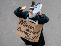 Demonstration gegen Urteil zum Mietendeckel