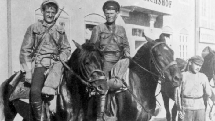Russische Kosaken während des polnisch-russischen Krieges, 1920