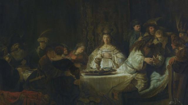 Simson, an der Hochzeitstafel das RâÄ°tsel aufgebend