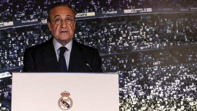 Florentino Pérez, Präsident von Real Madrid und designierter Super-League-Boss