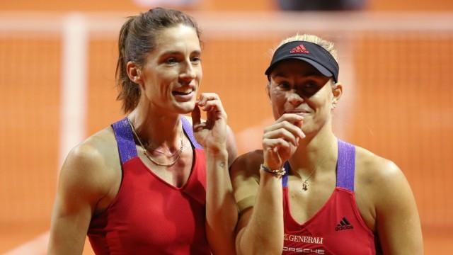 BAU// 20.04.2021 Stuttgart Tennis Porsche Tennis Grand Prix, Doppel, Angelique KERBER (GER) Andrea PETKOVIC (GER) *** BA