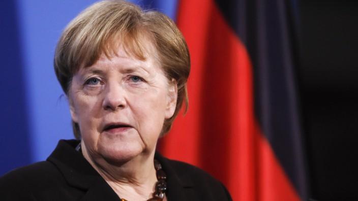 Bundeskanzlerin Angela Merkel 2021 in Berlin