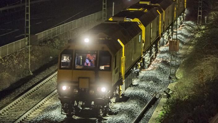 Schienenschleifzug im Einsatz