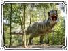 model of dangerous prehistoric dinosaurs Tyrannosaurus Rex, T-rex in wildlife (Artush)