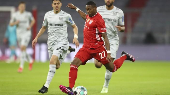 FC Bayern München: David Alaba im Bundesliga-Spiel gegen Bayer Leverkusen
