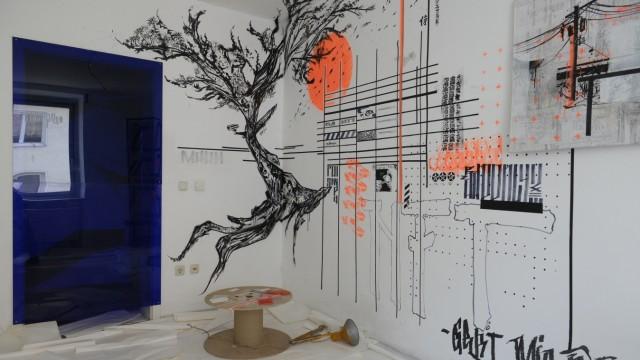 Abrisshaus in München - künstlerische Zwischennutzung, 2021
