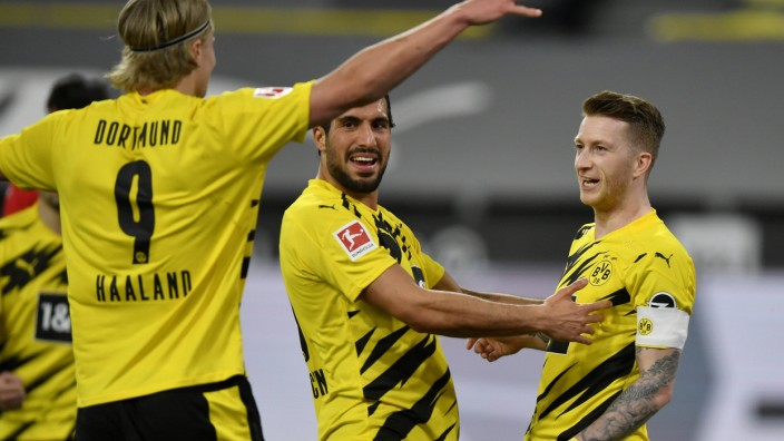 Borussia Dortmund: BVB-Spieler jubeln gegen Union Berlin