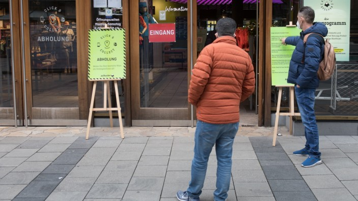 Einkaufen mit negativem Corona-Selbsttest