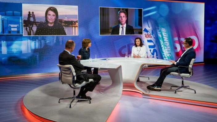 """""""maybrit illner""""-Sendung vom 22. April 2021"""