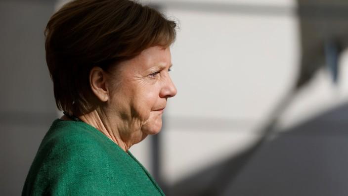 Bundeskanzlerin Merkel empfängt EU-Präsidentin von der Leyen