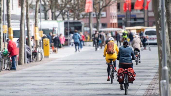 Fahrradverkehr in Mainz