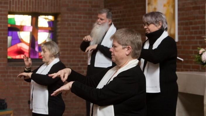 Gebärdenchor der evangelischen Gehörlosengemeinde München