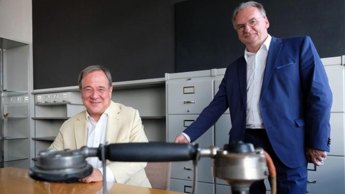 Ministerpräsident Laschet besucht Sachsen-Anhalt