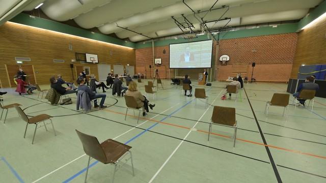 München: Bürgerabstimmung im Jahr 2020 in einer Feldkirchner Turnhalle.