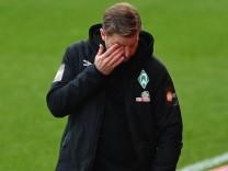 Fussball, Herren, Saison 2020/21, 1. Bundesliga (31. Spieltag), 1. FC Union Berlin - SV Werder Bremen, Trainer Florian K