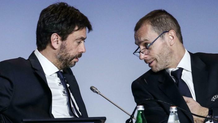 UEFA-Präsident Aleksander Ceferin und Andrea Agnelli