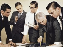 1960s FIVE MEN IN BUSINESS...