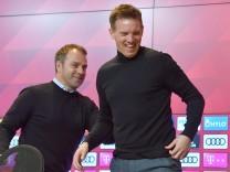 Wird jetzt Julian Nagelsmann Nachfolger von Hans Dieter Flick (Hansi ,Trainer Bayern Muenchen)? Archivfoto: Julian NAGEL; Flick Nagelsmann