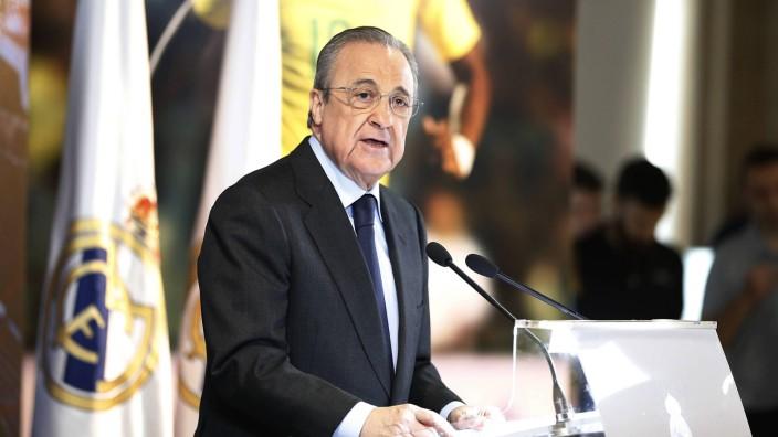Real Madrid: Präsident Florentino Pérez spricht im Santiago Bernabeu