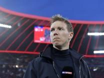 09.02.2020, Fussball 1. Bundesliga 2019/2020, 21. Spieltag, FC Bayern München - RB Leipzig, in der Allianz-Arena München; Nagelsmann