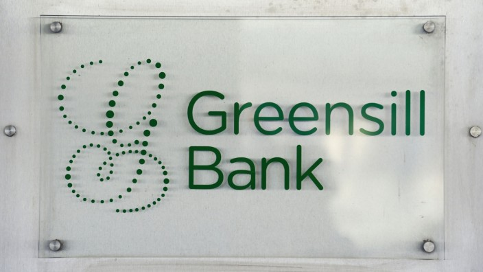 FILE PHOTO: The Greensill Bank is pictured in downtown Bremen