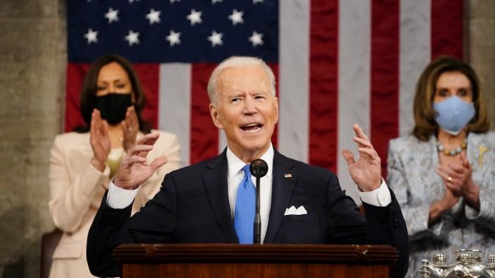 US-Präsident Biden spricht vor dem US-Kongress