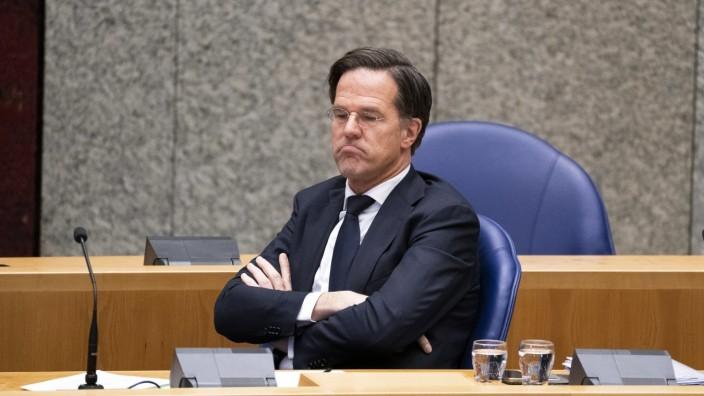 DEN HAAG - Demissionair premier Mark Rutte in de Tweede Kamer tijdens een debat over de ontwikkelingen rondom het corona