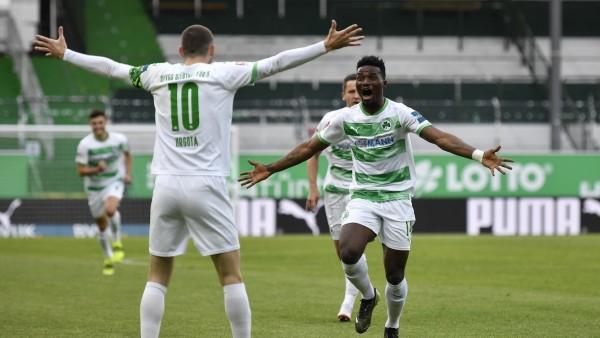 28.04.2021 - Fussball - Saison 2019 2020 - 2. Fussball - Bundesliga - 28. Spieltag: SpVgg Greuther Fürth ( Kleeblatt )