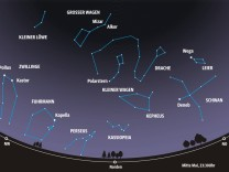 Mai 2021, zum Beitrag von H. Hornung, Sternkarte, Sternenhimmel