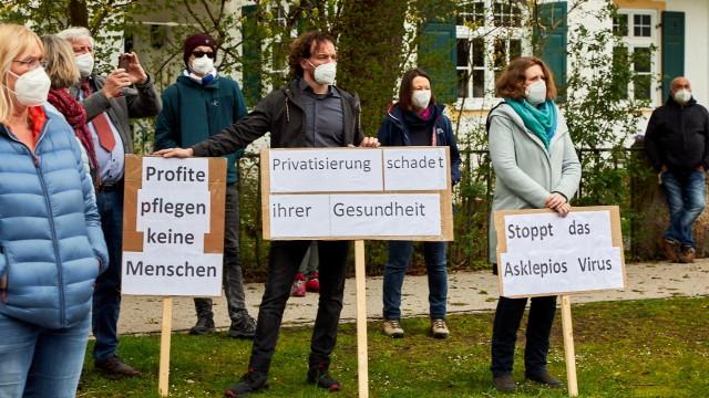 Mai-Kundgebung Asklepios Stadtklinik
