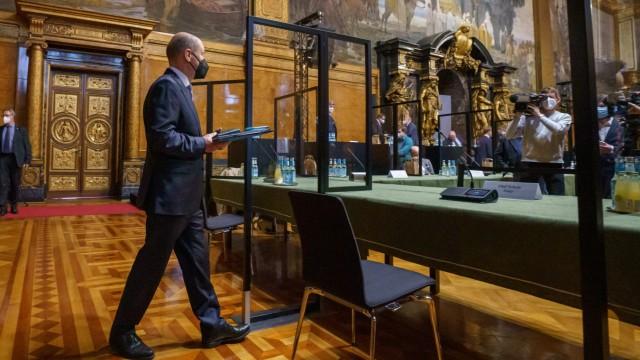 Olaf Scholz Testfies In Hamburg CumEx Commission