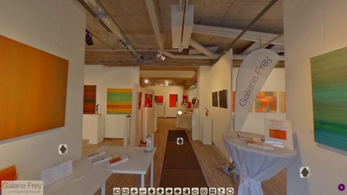GERMERING: Screenshot der virtuellen Ausstellung FARBKLÄNGE