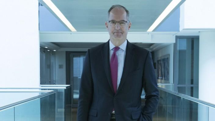 Balance sheet press conference of Kloeckner & Co SE in Duesseldorf. Gisbert Ruehl, CEO of Kloeckner & Co SE.