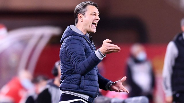 Sport Bilder des Tages NIKO KOVAC (ENTRAINEUR MONACO) FOOTBALL : Monaco vs Lyon - Ligue 1 Uber Eats - 02/05/2021 FEP/Pan