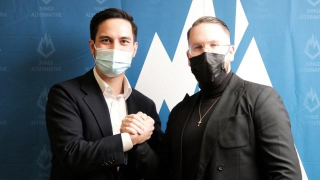 AfD: Carlo Clemens und Marvin Neumann von der Jungen Alternative