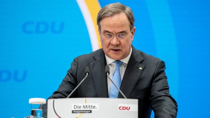CDU-Chef Armin Laschet bei einer PK In Berlin