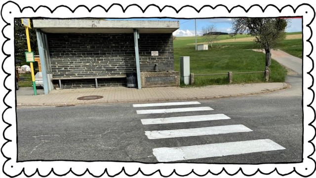 Selbstgemalter Zebrastreifen