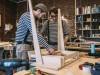 Carpenters at work on wooden table model released Symbolfoto property released PUBLICATIONxINxGERxSU