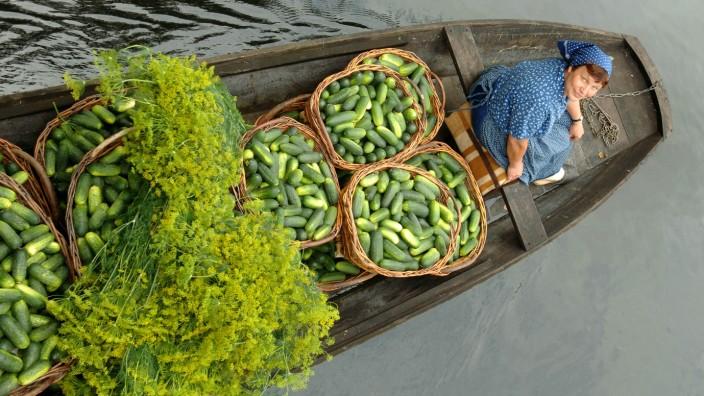 Gurkenmarkt im Spreewald