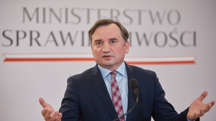 December 17, 2020, Warsaw, Mazovian, Poland: Press conference of the Ministry of Justice on the Act on the Protection of